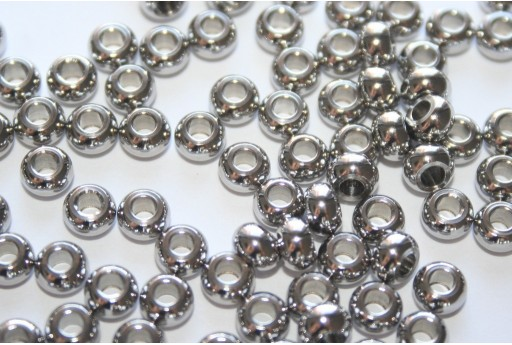 Rondelle Stainless Steel Spacer Beads 5x3mm - 12pcs