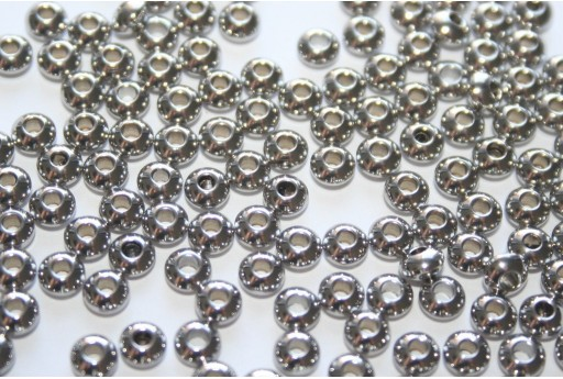 Rondelle Stainless Steel Spacer Beads 4x2mm - 14pcs