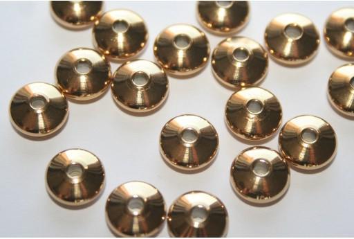 Distanziatori Acciaio Colore Oro Rondelle 8x4mm - 4pz