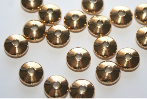 Stainless Steel Beads Rondelle Golden 8x4mm - 4pcs