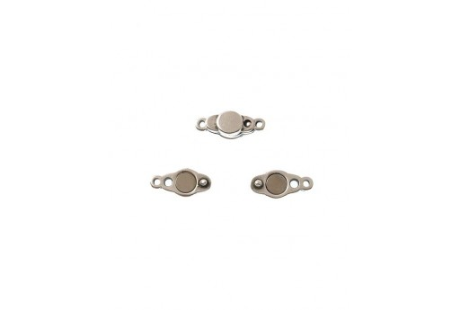 Silver Magnetic Clasp 17x7mm - 1pcs