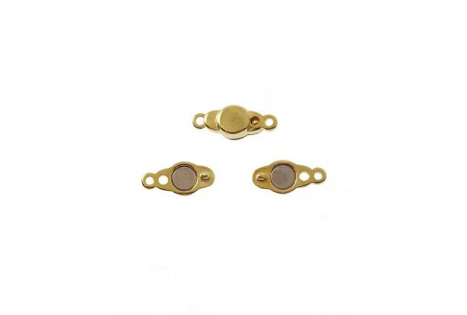 Golden Magnetic Clasp 17x7mm - 1pcs