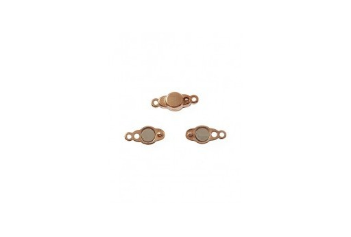 Rose Gold Magnetic Clasp 17x7mm - 1pcs