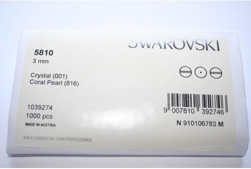 Perle Swarovski Elements 5810 Confezione Ingrosso Coral 3mm - 1000pz