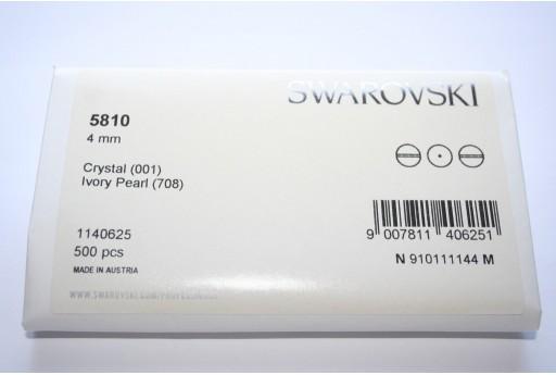 Perle Swarovski Elements 5810 Confezione Ingrosso Ivory 4mm - 500pz