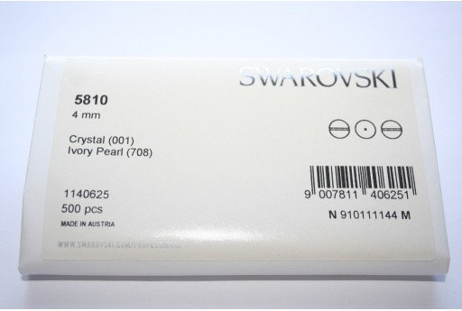 Swarovski Elements Pearls 5810 Ivory 4mm - Pack 500pcs