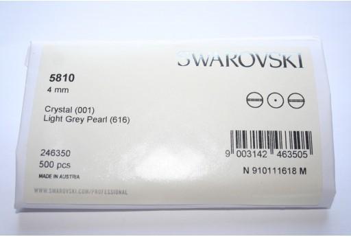Swarovski Elements Pearls 5810 Light Grey 4mm - Pack 500pcs