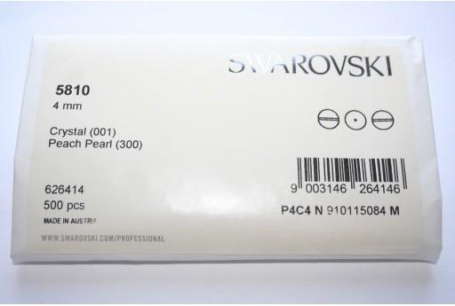 Swarovski Elements Pearls 5810 Peach 4mm - Pack 500pcs