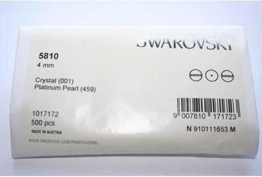 Perle Swarovski Elements 5810 Confezione Ingrosso Platinum 4mm - 500pz