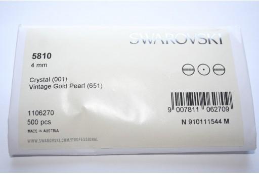 Swarovski Elements Pearls 5810 Vintage Gold 4mm - Pack 500pcs