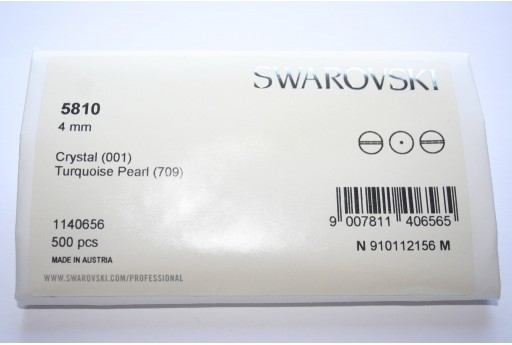 Swarovski Elements Pearls 5810 Turquoise 4mm - Pack 500pcs