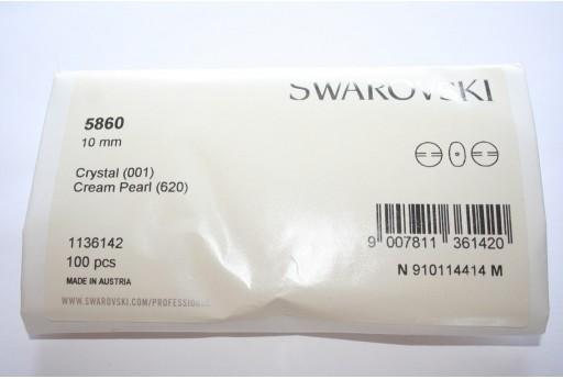 Perle Coin Swarovski 5860 Confezione Ingrosso Cream 10mm - 100pz