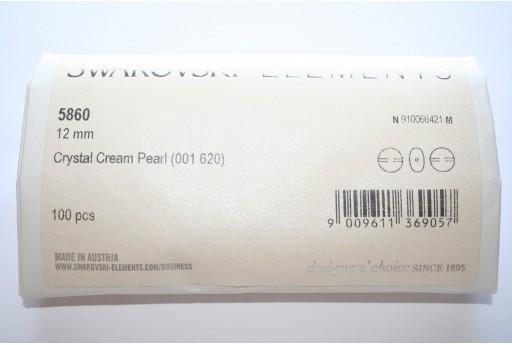 Perle Coin Swarovski 5860 Confezione Ingrosso Cream 12mm - 100pz