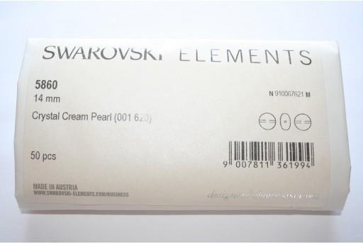 Perle Coin Swarovski 5860 Confezione Ingrosso Cream 14mm - 50pz