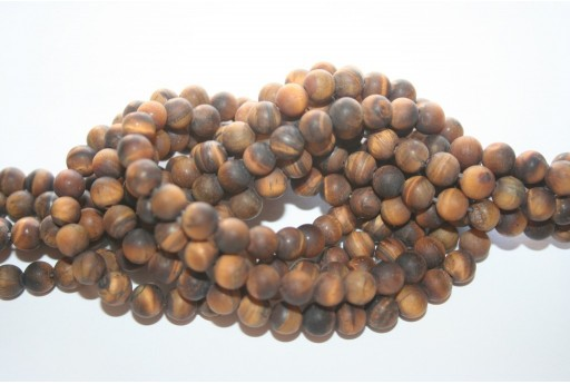 Tiger Eye Frosted Beads Round 6mm - 64pcs
