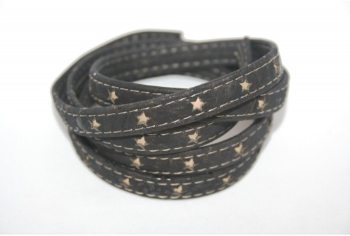 Cork Cord Flat with Stars 10mm - 20cm