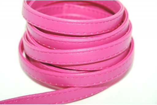 Flat Faux Leather Fuchsia 10mm - 50cm