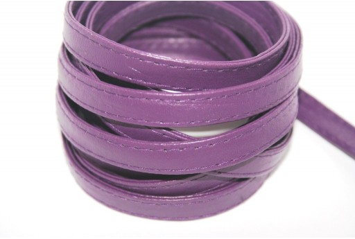 Flat Faux Leather Purple 10mm - 50cm