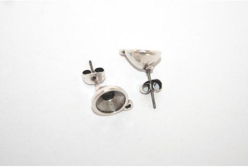 Silver Earring Setting Stone SS39 - 2pcs