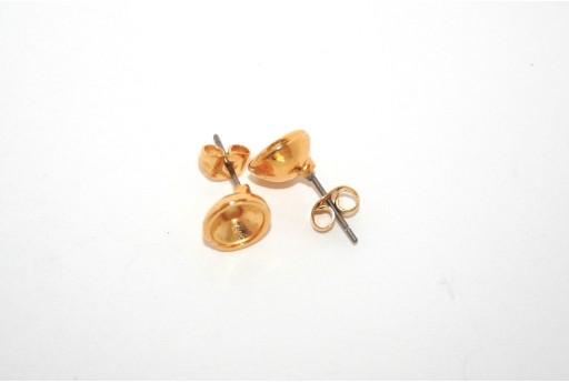 Gold Earring Setting SS29 - 2pcs