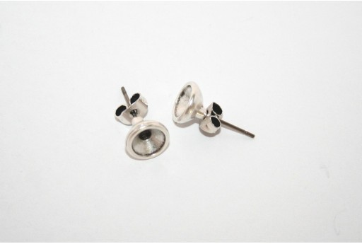 Silver Earring Setting SS29 - 2pcs
