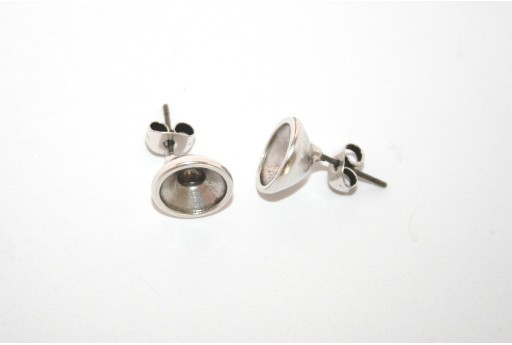Silver Earring Setting SS39 - 2pcs