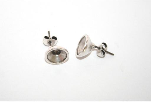 Silver Earring Setting SS39 - 2pcs