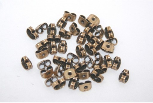 Brass Steel Ear Back Stops 6,5x4,5mm - 30pcs