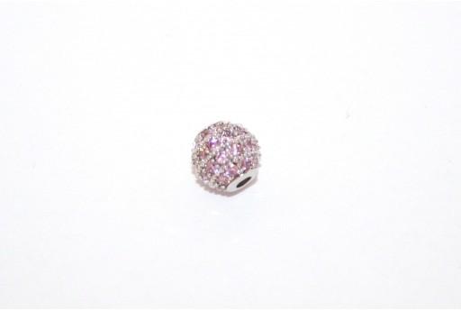 Cubic Zirconia Micro Pavè Beads Pink 6mm