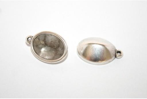 Castone Pendente Argento per Cabochon Ovale 14x10mm - 2pz