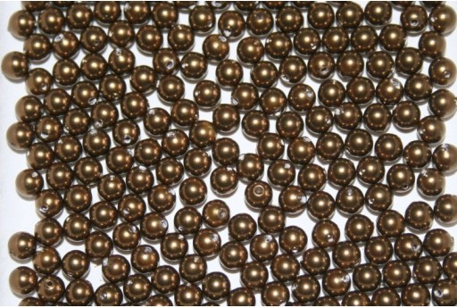 Swarovski Pearls Antique Brass 5810 4mm - 20pcs