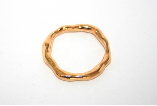 Gold Plated Connector Ring 27x24mm - 1pcs