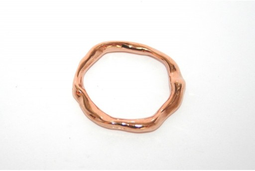 Rose Gold Plated Connector Ring 27x24mm - 1pcs