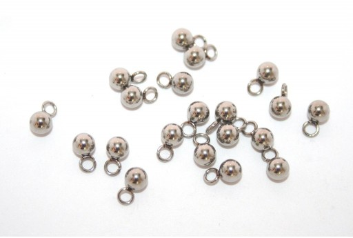 Stainless Steel Ball Charms 4mm -10pcs