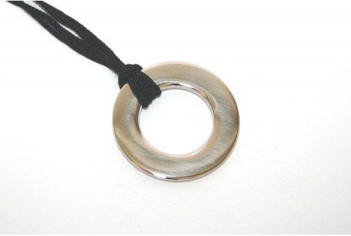 Stainless Steel Pendant Circle 31mm -1pcs