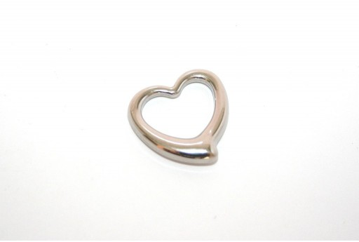 Stainless Steel Pendant Heart 24mm -1pcs
