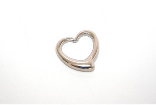 Stainless Steel Pendant Heart 24mm -1pcs