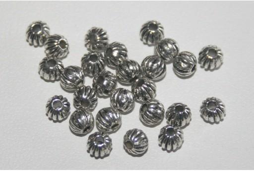 Palline Argento Tibetano 4mm - 50pz