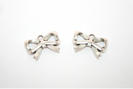 Silver Plated Ribbon Pendant 20x13mm -1pcs