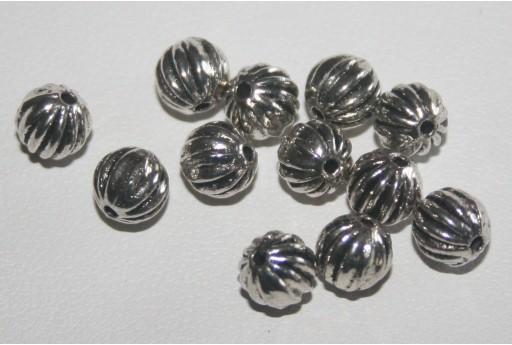 Palline Argento Tibetano 6mm - 13pz