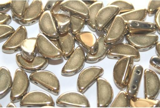 Perline Semi Circle® Crystal Amber Full 5x10mm - 20pz