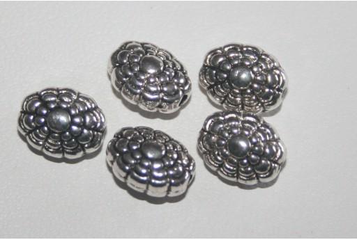 5 Ovali Argento Tibetano 9,5x7,5mm TIB33