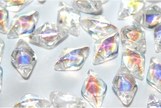GemDuo Beads Crystal AB 8x5mm - Pack 100gr
