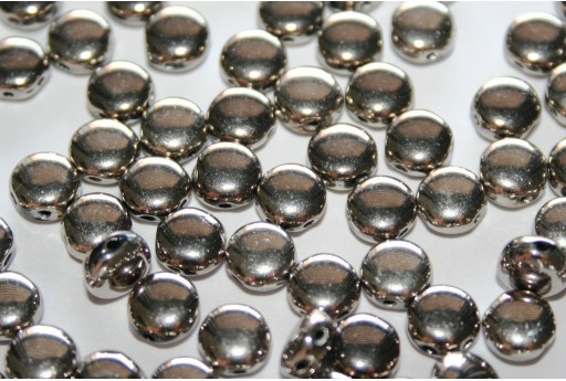 Discoduo® Beads Jet Argentic Full 6x4mm - Pack 300pcs