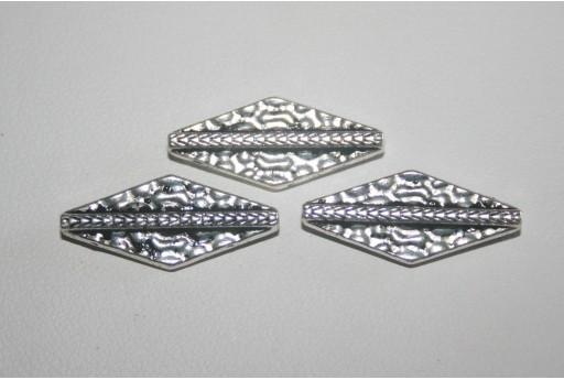 Tibetan Silver Long Rhombus Beads 21x9mm - 9pcs