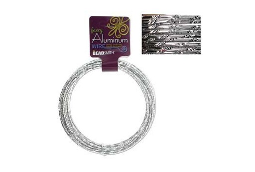 Aluminum Wire Diamond Cut Silver 2mm - 12mtr