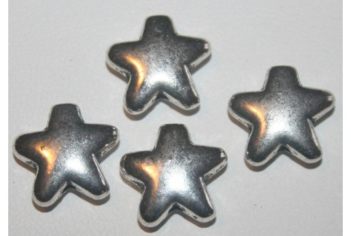 6 Stelle Argento Tibetano 12,5mm TIB43