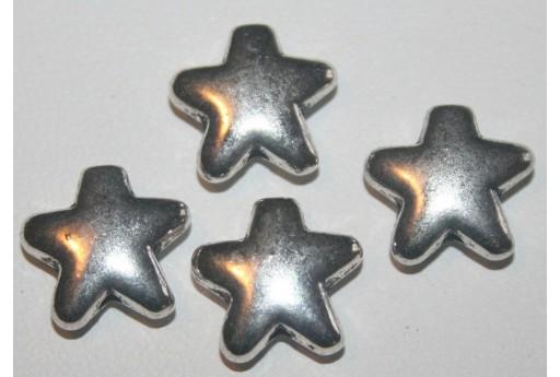 Stelle Argento Tibetano 12,5mm - 6pz