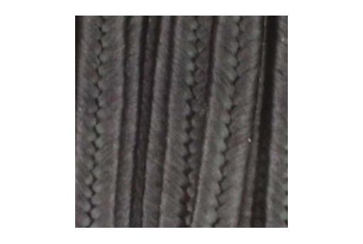Rayon Soutache Cord Black 3mm - 5mtr