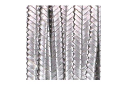 Rayon Soutache Cord Metallic Antique Silver 3mm - 5mtr